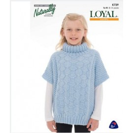 Loyal Aran/10Ply - Girls Oversized Pullover