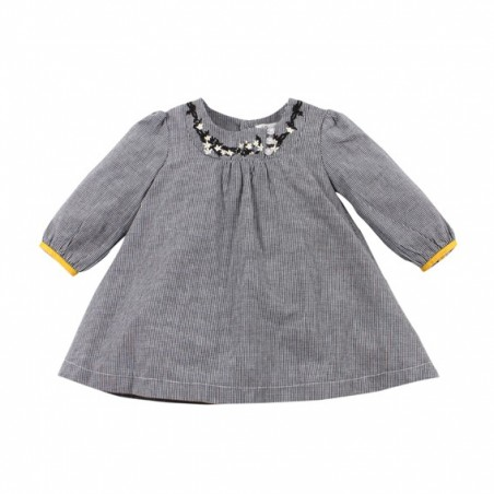 Bebe - Heidi Embroidered Long Sleeve Dress - Heidi Check