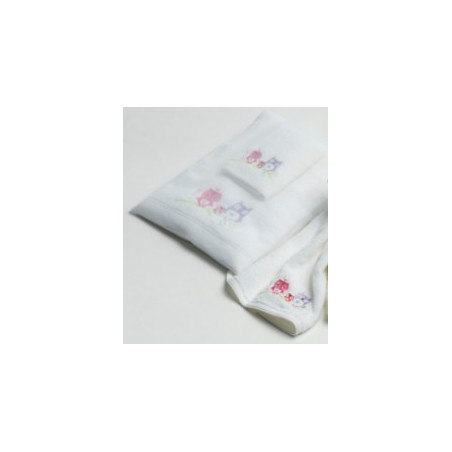 Pilbeam Textiles - Owl & Branch Towel & Washer Pack in Organza Bag