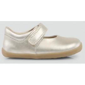 Bobux - Step Up Dance Molten Gold Plain Mary Jane