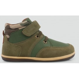 Bobux - I Walk Kid+ - Stomp Boot Army Green