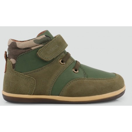 Bobux - I Walk Kid+ - Stomp Boot Army Green