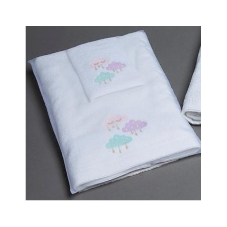 Pilbeam Textiles - Clouds Towel & Face Washer Set in Organza Bag