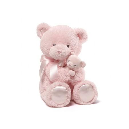 Baby Gund - Mum & Baby Bear Rattle Pink 38cm