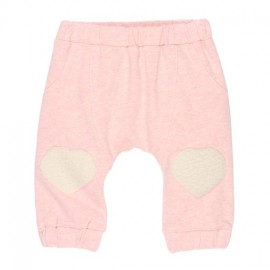 Bebe - Chloe Soft Pant with Knee Patches - Blush Mix