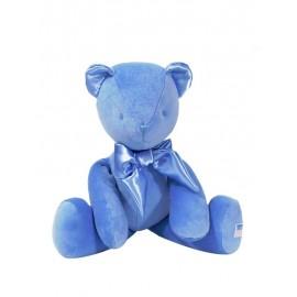 Kate Finn - Large 45cm Velvet Bear Blue
