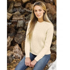 Cleckheaton Superfine Merino - Wrap Cable Sweater & Cardi