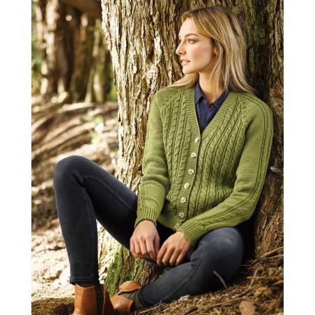 Cleckheaton Superfine Merino - Wrap Cable Sweater & Cardi
