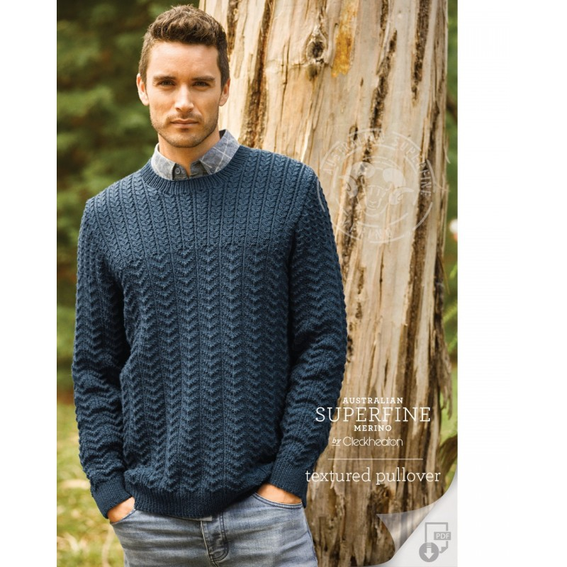 Australian Superfine Merino by Cleckheaton - Knitted Textured Pullover