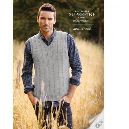 Australian Superfine Merino by Cleckheaton - Knitted Men's Vest