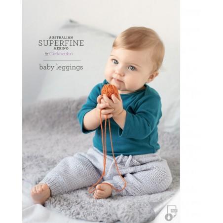 Australian Superfine Merino by Cleckheaton - Knitted Baby Leggings
