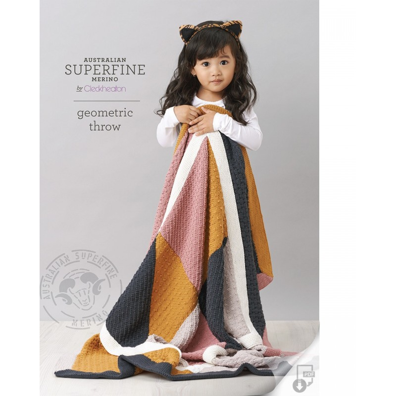Australian Superfine Merino by Cleckheaton - Knitted Geometric Throw
