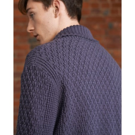 Australian Superfine Merino by Cleckheaton - Knitted Shawl Collar Pullover