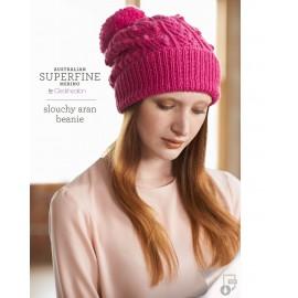 Australian Superfine Merino by Cleckheaton - Knitted Slouchy Aran Beanie
