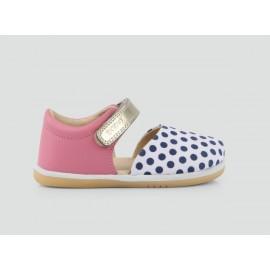 Bobux - I-Walk Peony/Spot Print Twist Sandal