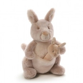 Baby Gund - Oh So Soft Kangaroo & Rattle Set 28cm