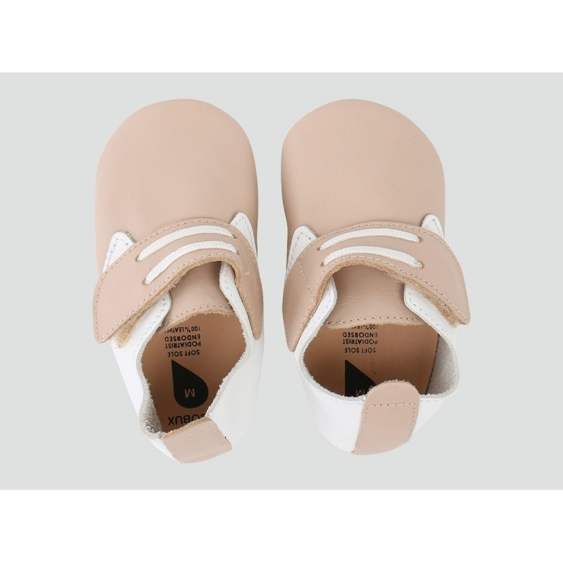 Bobux - Softsole Beige/White Dockside