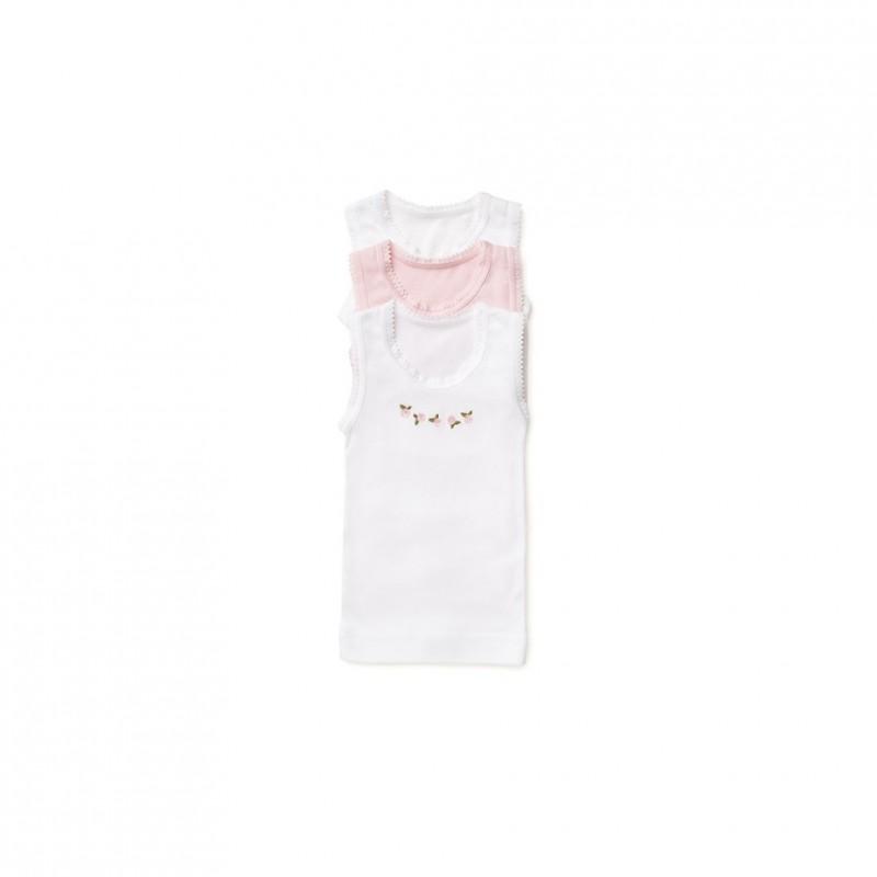 Marquise - 3 Pack Girls Singlets Flowers