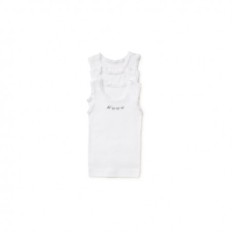 Marquise - 3 Pack Boys Singlets Blue Train