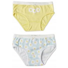 Marquise - 2 Pack Girls Underwear Daisies Yellow/Print