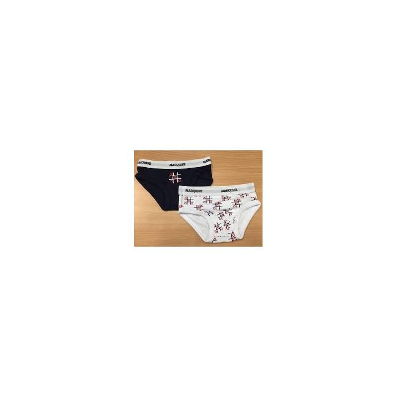 Marquise - 2 Pack Boys Underwear Tic Tac Toe Print/Navy
