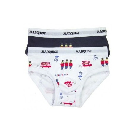 Marquise - 2 Pack Boys Underwear Toy Soldier Print/Navy