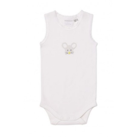 Marquise - 2 Pack Bodysinglet Mouse White/Grey