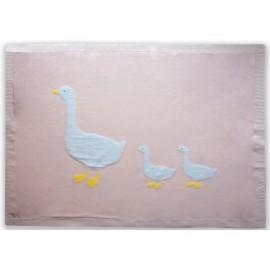 Beanstork - Miss Goose Blanket - Soft Pink