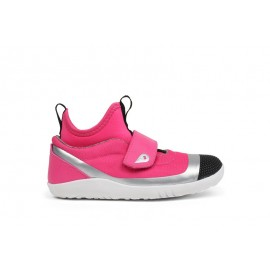 Bobux - Kids+ Hi Dimension Hi Top Fuchsia Silver