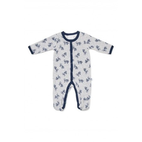 Marquise - Velour Studsuit Bike - Grey/Navy