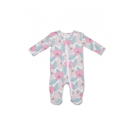 Marquise - Floral Girls Zipsuit with Feet