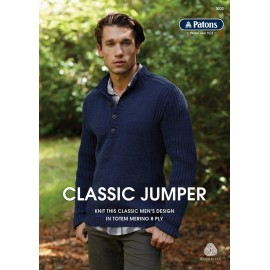 Patons - Men's Classic Jumper Pattern - 8ply