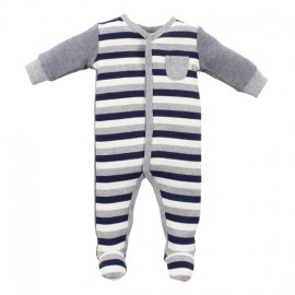 Bebe - Riley Front Snap Romper with Feet