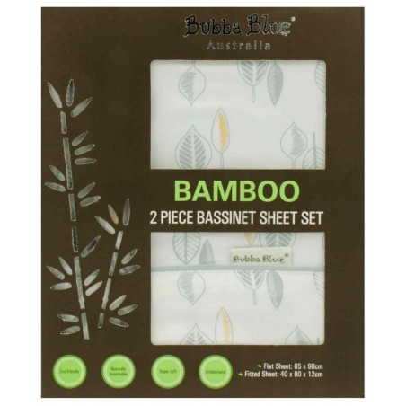 Bubba Blue - Bamboo Leaf - 2 Pce Bassinet Sheet Set