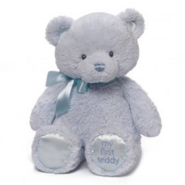 """Gund""  MY FIRST TEDDY BLUE 38CM"