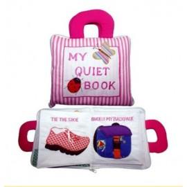 Dyles - Pink Stripe Quiet Book
