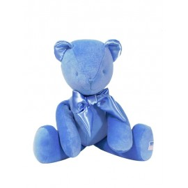 Kate Finn - Large 45cm Velvet Bear Blue