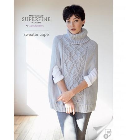 Australian Superfine Merino by Cleckheaton - Knitted Sweater Cape