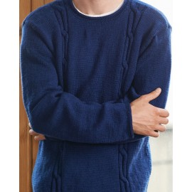 Australian Superfine Merino by Cleckheaton - Knitted Tall Cable Sweater