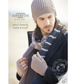 Australian Superfine Merino by Cleckheaton - Men's Knitted Beanie, Mitts & Scarf