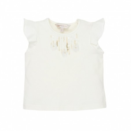 Fox & Finch - Dazzle Top with Sequins - Cloud