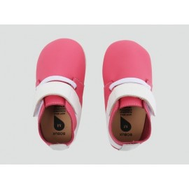 Bobux - Softsole Mini Street Fuschia/White