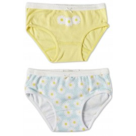 Marquise - 2 Pack Girls Underwear Daisies Yellow/Print