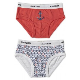 Marquise - 2 Pack Boys Underwear Ahoy Red/Print