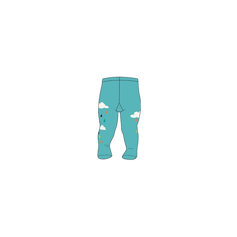 Boboli - Tights for Baby Girl - Turquoise with Print
