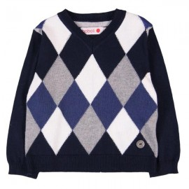 Boboli - Knitted Pullover for Baby Boy - Navy