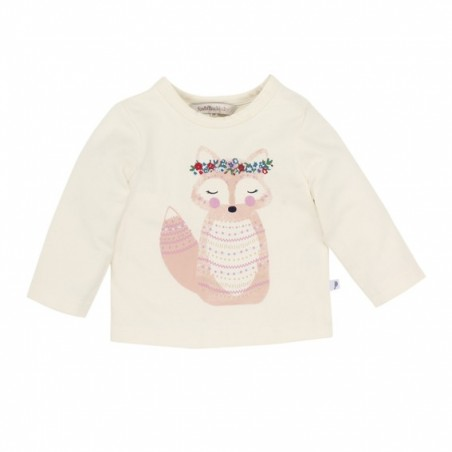 Fox & Finch - Folk Fox Tee - Ecru