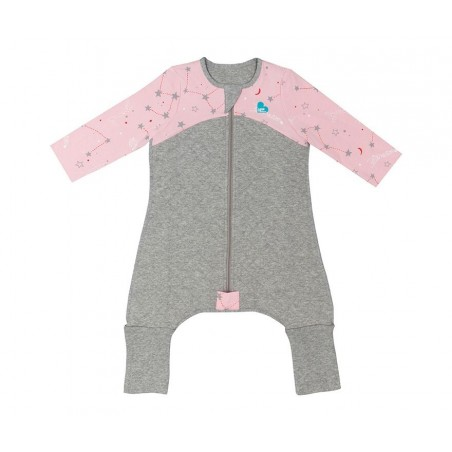 Love To Dream - Sleep Suit - Pink Star 2.5 tog