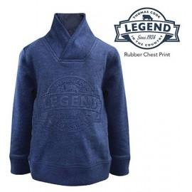 Thomas Cook - Boys Shawl Neck Fleece Jumper - Blue Indigo