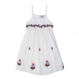 Tahlia - Jaipur Embroidered Dress with Back Detail - Cloud